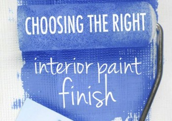 Interior paint finish options